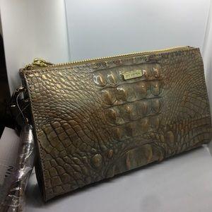 Brahmin clutch purse cream colored